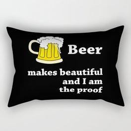 Beer Makes You Beautiful Rectangular Pillow