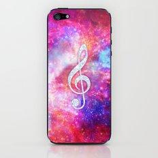 Galaxy Nebula Glitter Music Note Pink Space iPhone & iPod Skin