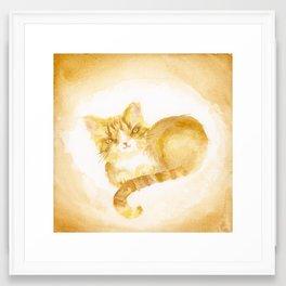 Pablo Ginger Gold Framed Art Print