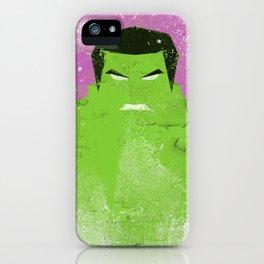 The Grunge Green Rage iPhone Case