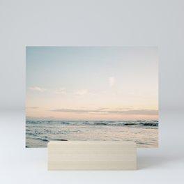 Pretty Pastel Sea | Beach travel photography art print | Soft colored fine art poster Mini Art Print