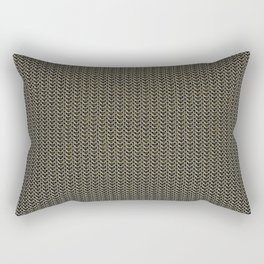 Faux Chainmail over Canvas Rectangular Pillow