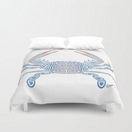 Tribal Blue Crab Duvet Cover