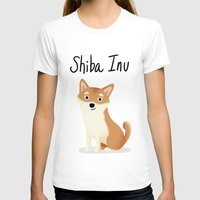 shiba inu T-shirts featuring Shiba Inu - Cute Dog Series by Cassandra Berger