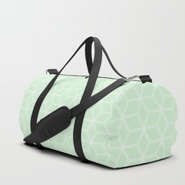 Geometric Hive Mind Pattern - Light Green #395 Duffle Bag