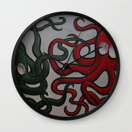 The Octopi Wall Clock