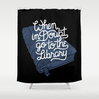 library Shower Curtains featuring Library by WEAREYAWN