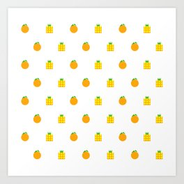 Ji Li Ong Lai / Orange & Pineapple Art Print