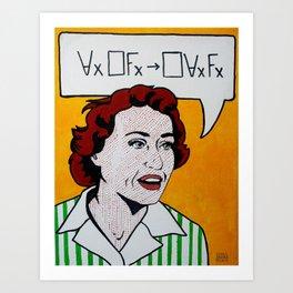 Ruth Barcan Marcus Art Print