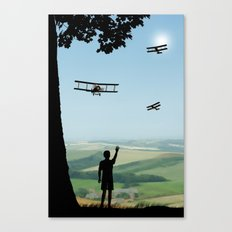 Childhood dreams, Flypast Canvas Print