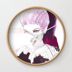 Ethno fashion illustration Wall Clock