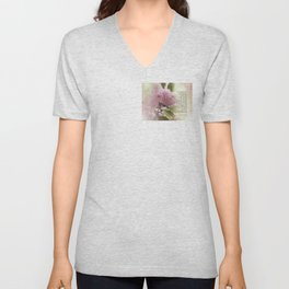 Serenity Prayer Cherry Blossom Glow Unisex V-Neck