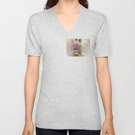 Serenity Prayer Cherry Blossom Glow Unisex V-Neck