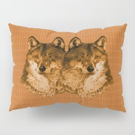 Season of the Wolf - Duet in Gold Pillow Sham