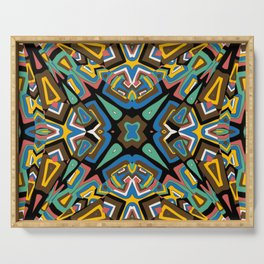 Abstract colored mosaic Kaleidoscope background Serving Tray