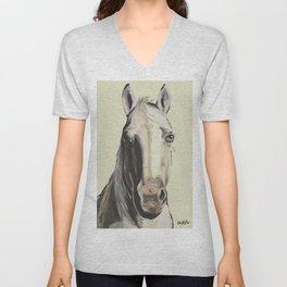 Farm Animal Art, Horse Art Unisex V-Neck