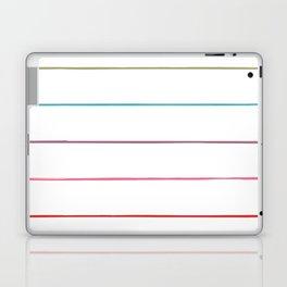 Horizontal Rainbow Stripes Laptop & iPad Skin