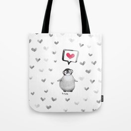 Tiny penguin love Tote Bag