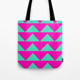 Neon Pink & Aqua Tote Bag