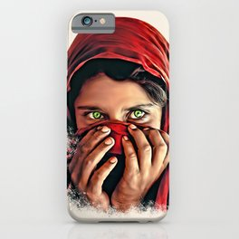 Afghan Girl with Beautiful Eyes iPhone Case