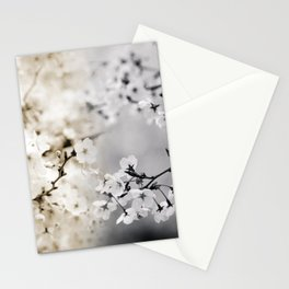 Assorted Cherry Blossoms in Muted Tones Stationery Cards