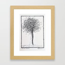 Nesting Tree #1 Pen Drawing Framed Art Print