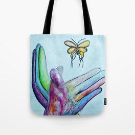 American Sign Language BUTTERFLY Tote Bag
