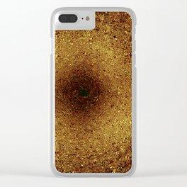 Golden mandala texture pattern circle illustration Clear iPhone Case