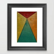 Letter tie Framed Art Print