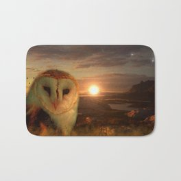 Barn Owl Sun & Moon Bath Mat