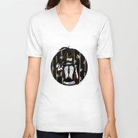 daryl dixon V-neck T-shirts featuring Daryl Dixon by Lydia Joy Palmer