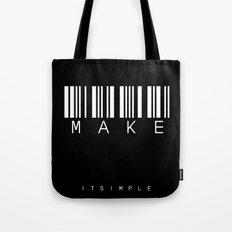 barcode MAKE Tote Bag