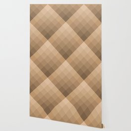 Diamond gradient pattern in brown Wallpaper