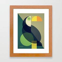 Mid Century Toucan Framed Art Print