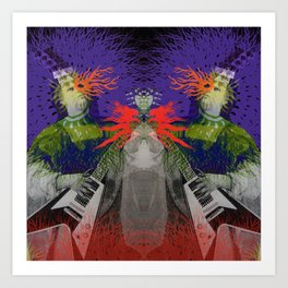 Flying V Psychout Art Print