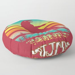 Crow Sunset Symbols Death Today Gift Floor Pillow