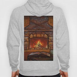 Fireplace (Winter Warming Image) Hoody