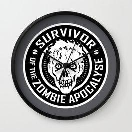 Survivor of the Zombie Apocalypse Wall Clock