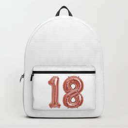 Rose Gold 18th Birthday Metallic Helium Balloons Numbers Backpack