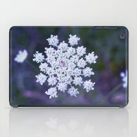 snowflake iPad Cases featuring Snowflake by The Last Sparrow