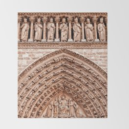 Notre Dame Mural Throw Blanket