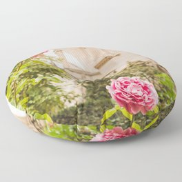 Roses at Notre Dame - Paris Photography Floor Pillow