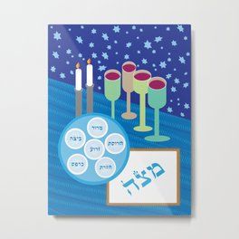 Passover Table Metal Print