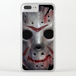 Happy Friday Mask Clear iPhone Case