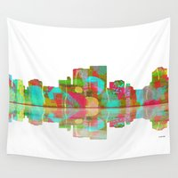 darwin Wall Tapestries featuring Darwin Skyline 1 by Marlene Watson