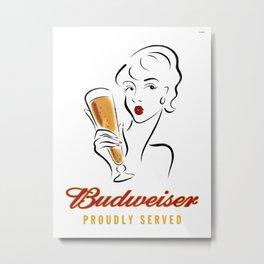 Beer Poster Metal Print