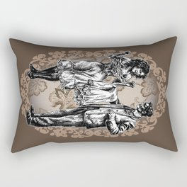 """I Lost A Bet..."" Victorian Style Pin Up (Chocolate) Rectangular Pillow"