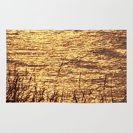 Sparkling Sea of Gold Rug