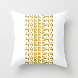 Habesha Ethiopia Eritrea Gift Idea graphic Throw Pillow