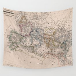 Vintage Map of The Roman Empire (1852) Wall Tapestry
